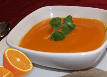 Potage carottes-orange sans gluten